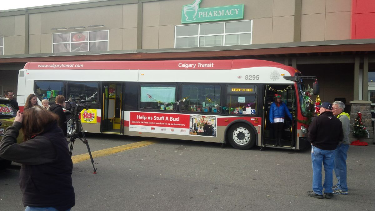 CIBL Participates in Stuff a Bus Food Drive
